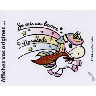 Stickers Licorne Normande