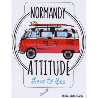 Stickers Normandy Attitude Love & Sea